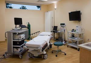 Procedure room at Gastroenterology Specialists of DeKalb in Decatur, GA