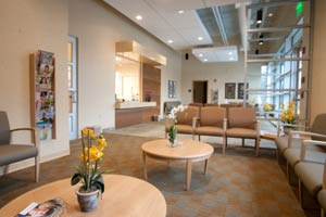 Reception and waiting area at Gastroenterology Specialists of DeKalb in Decatur, GA